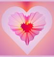 valentines heart decorative neon heart of lines vector image