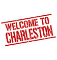 welcome to charleston stamp vector image vector image
