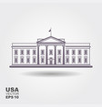 with white houseusa vector image vector image