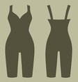 Woman silhouette slimming underwear vector image