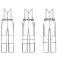 Work pants vector image vector image