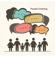 People with colorful dialog speech bubbles vector image
