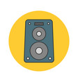 music speaker flat line icon vector image