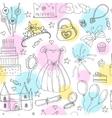 Fairy Tale Princess seamless pattern vector image