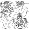 seamless pattern ganesha vector image