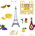 Seamless pattern with french icons vector image