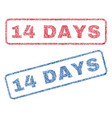 14 days textile stamps vector image vector image