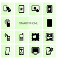 14 smartphone icons vector image vector image