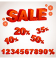 A sale discount set with percents vector image vector image