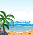 a summer beach background vector image vector image