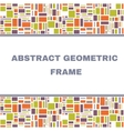 Abstract Geometric Colorful Frame vector image
