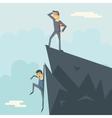 Achievement Top Point Goal Businessman Characters vector image vector image