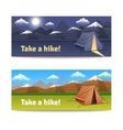 Adventure And Hike Banners Set vector image vector image