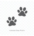 animal paw print icon on vector image