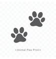 animal paw print icon vector image