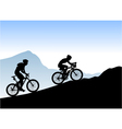 bikers vector image vector image