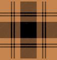 black and tan tartan plaid seamless pattern vector image vector image