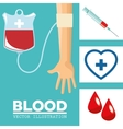 Blood donation design medical and healthcare vector image vector image