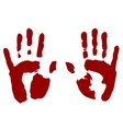 Bloody print of hands vector image vector image