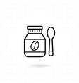 bottle coffee bean icon vector image vector image