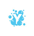 bubble with initial letter y graphic design vector image