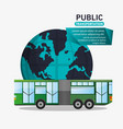 bus passenger public transport world vector image