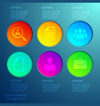 business web infographics vector image vector image