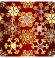 christmas and new year decoration snowflakes vector image