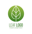 circle green leaf logo icon design landscape vector image vector image