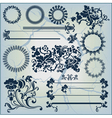 collection of beautiful ornaments vector image vector image