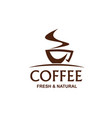 cup of coffe sign vector image vector image