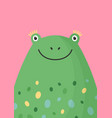 cute frog head flat adorable vector image vector image