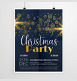 dark merry christmas party event flyer poster vector image vector image