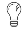 eco bulb icon outline style vector image