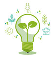 eco friendly light bulbs design vector image vector image