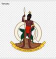 emblem of vanuatu vector image vector image
