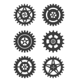 Gears icon set vector image