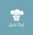 geek chef logo vector image vector image