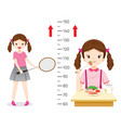 girl eating food and playing sport for health vector image