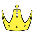 gold crown icon cartoon vector image vector image