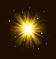 golden glow light effect star burst explosion vector image