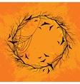 Halloween wreath orange background vector image vector image
