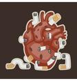human heart and smoking vector image vector image