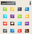 internet server and network bookmark icons vector image