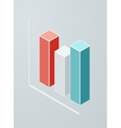 Isometric column chart icon vector image