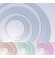 Layered circle background template vector image