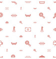 lens icons pattern seamless white background vector image vector image