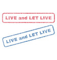 live and let live textile stamps vector image vector image