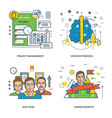 management creative process career growth vector image vector image