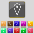 map poiner icon sign Set with eleven colored vector image